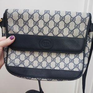 100% Authentic Navy Gucci Vintage Bag